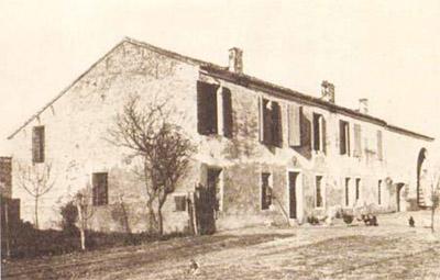 La casa del podere Zanetto di proprietà di Antonio Patrignani
